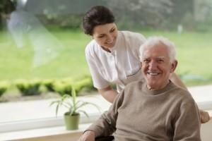 Man staying in nursing home